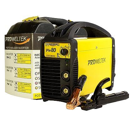 proweltek estación de soldadura inverter 80 A incluye: maletín, cortador de masa, puerta