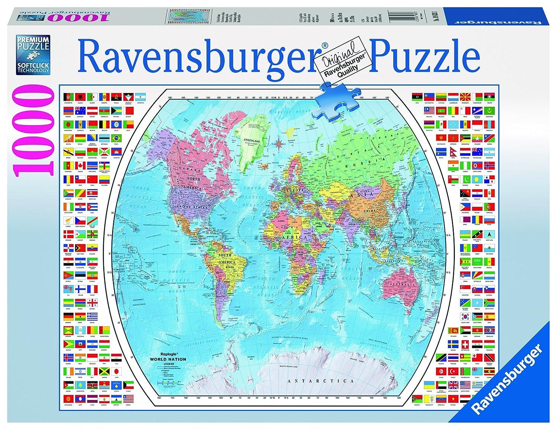 Ravensburger political world map jigsaw puzzle 1000 piece since gumiabroncs Images