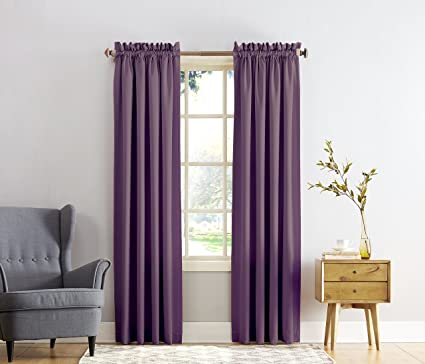 Sun Zero Barrow Energy Efficient Rod Pocket Curtain Panel 54quot X 84quot