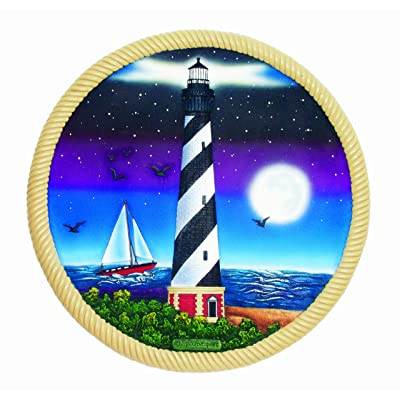 Spoontiques Lighthouse and Moon Stepping Stone : Outdoor Decorative Stones : Garden & Outdoor