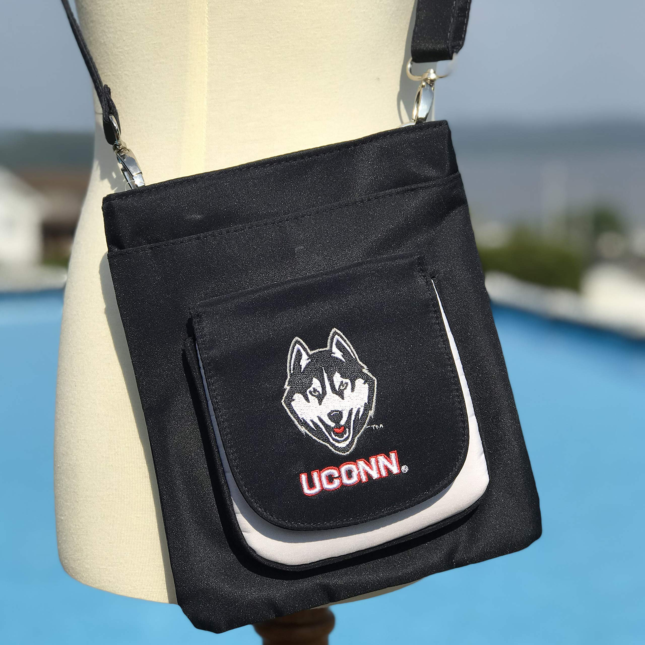 NCAA Connecticut Huskies Crossbody Purse-Handbag-Travel