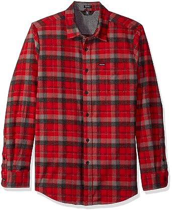 Amazon.com: Volcom Men's Caden Classic Flannel Long Sleeve Shirt: Clothing
