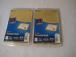 Inkjet Print or Write Notarial Seals, 44/Pack [Set of 2]