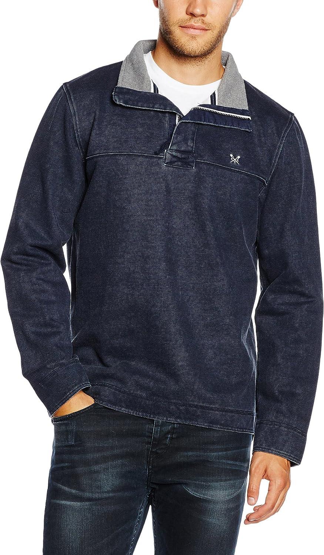 Crew Clothing Mens Padstow Pique Sweatshirt