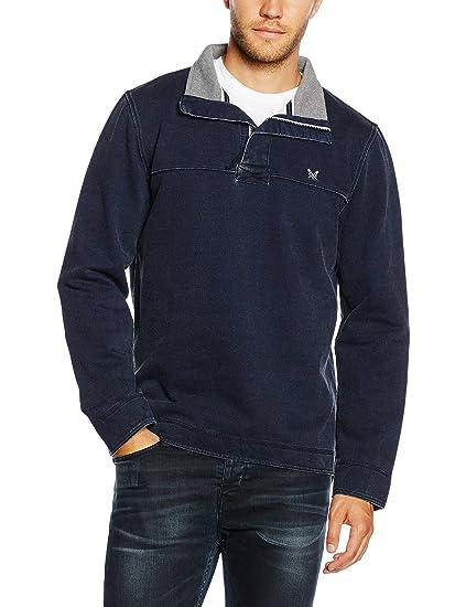 2343d11ddc Crew Clothing Men's Padstow Pique Sweatshirt: Amazon.co.uk: Clothing