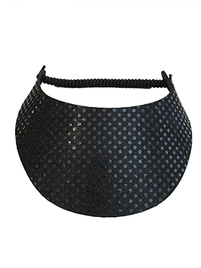 9e0d0671d Pickleball - Fashion Fabric Foam Sun Visor For Women -The Sporty Look -  Adjustable To Any Size Head - No Pressure & No Headache!   Black Glitz  Design
