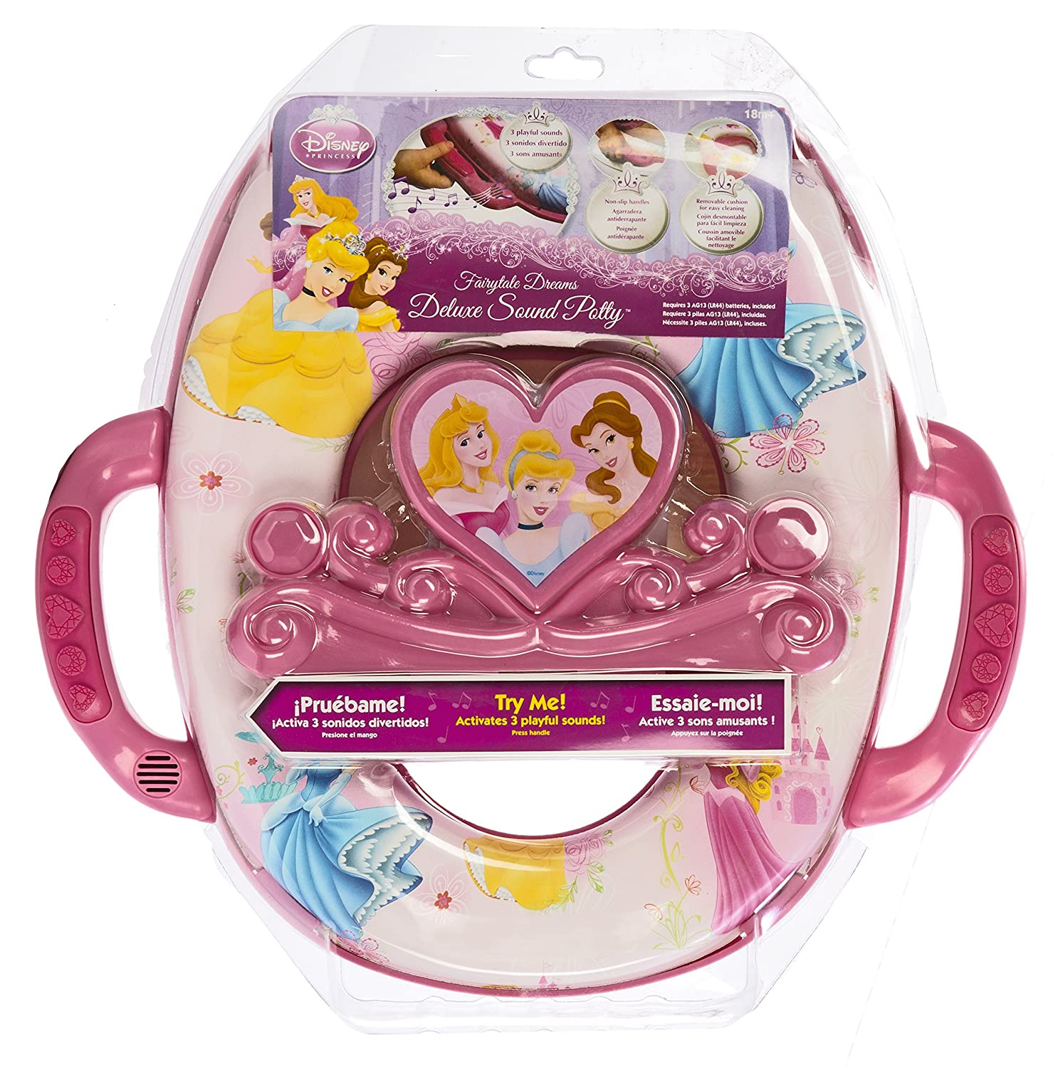 Amazon.com : Disney Princess Deluxe Potty Seat, Pink : Toilet ...