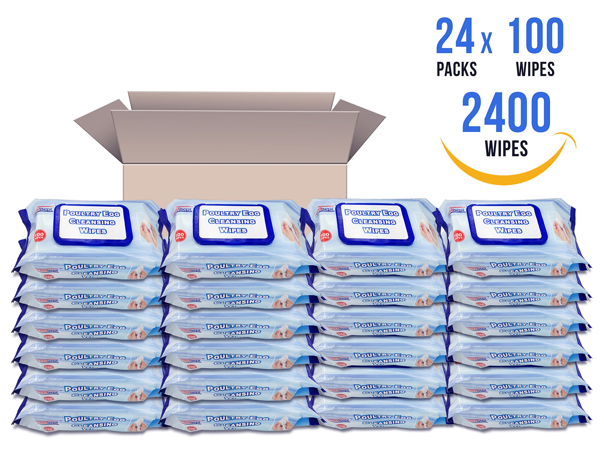 Germisept Poultry Egg Cleansing Wipes (2400 Wipes)
