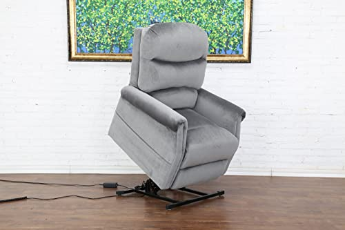 Divano Roma Furniture Classic Plush Power Lift Recliner Living Room Chair