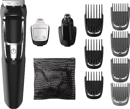 Philips MG3750/60 cortadora de pelo y maquinilla Negro, Metálico Recargable - Afeitadora (Negro, Metálico, 60 min, Integrado, AC/Batería, 1 h, Ión de litio): Amazon.es: Hogar