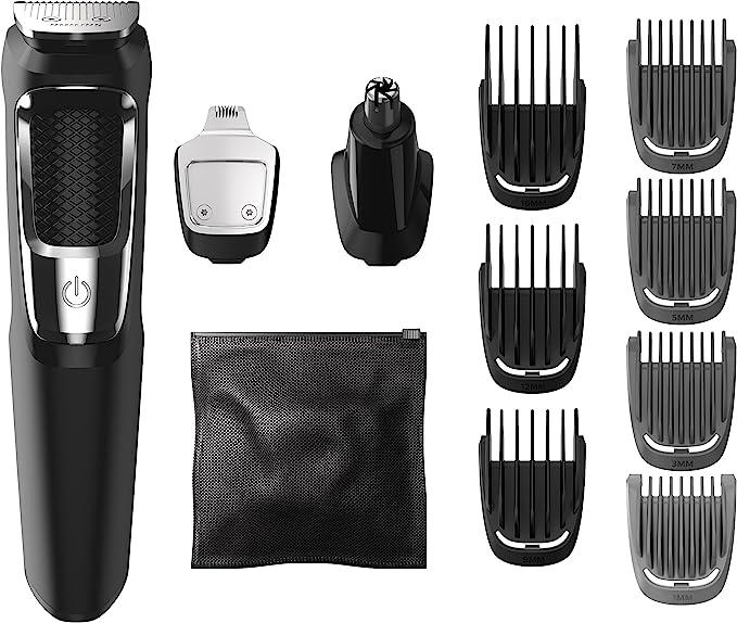 Philips MG3750/60 cortadora de pelo y maquinilla Negro, Metálico Recargable - Afeitadora (Negro, Metálico, 60 min, Integrado, AC/Batería, 1 h, Ión de litio): Amazon ...