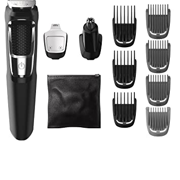 5db36b9fb Amazon.com: Philips Norelco Multigroom Series 3000, 13 attachments, FFP,  MG3750: Beauty
