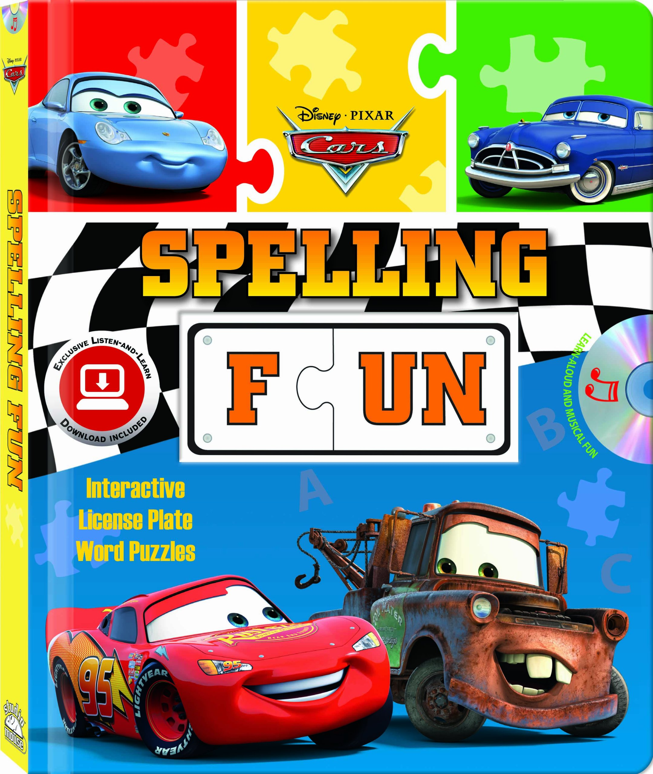 Disney/Pixar Cars Spelling Fun (Puzzle book with audio CD and easy-to-download  audiobook) (Disney: Pixar: Cars: Step by Step): Studio Mouse:  9781590699386: ...