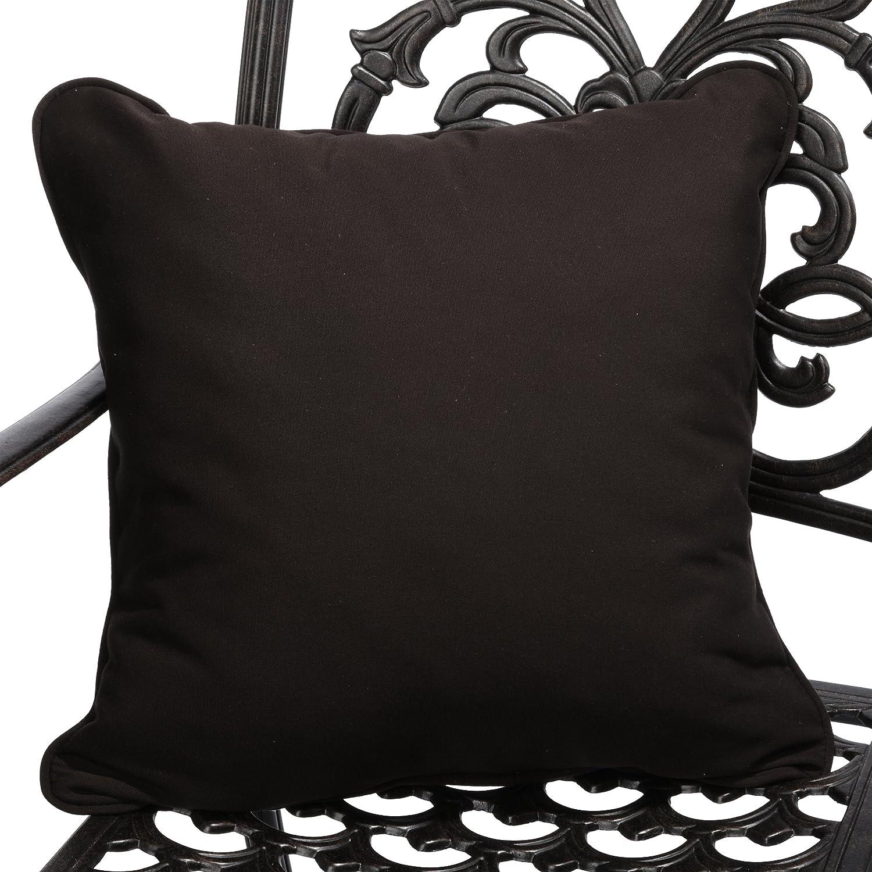 Mozaic Company Sunbrella Indoor/ Outdoor 18-inch Corded Pillow, Bay Brown, Set of 2