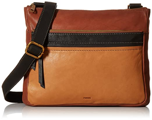 Fossil Corey Large Crossbody, Multi/Brown