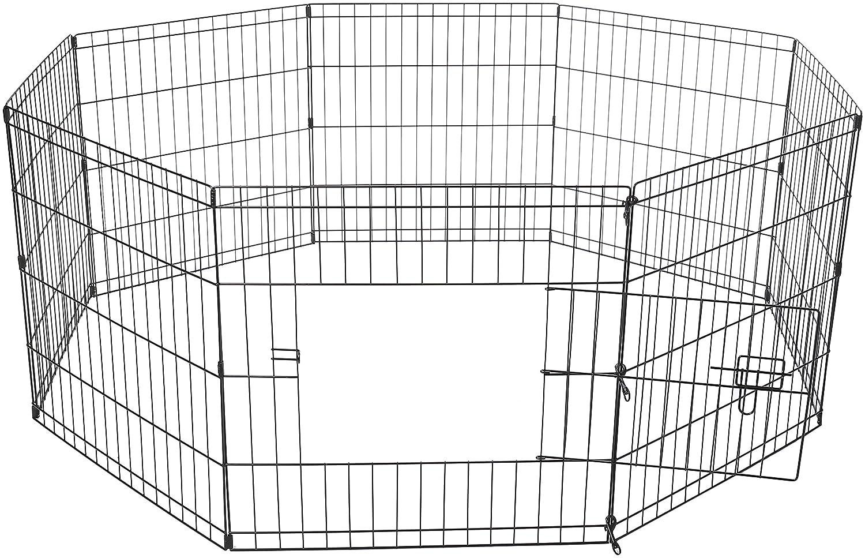 amazon com oxgord metal wire 8 panel folding exercise yard fence