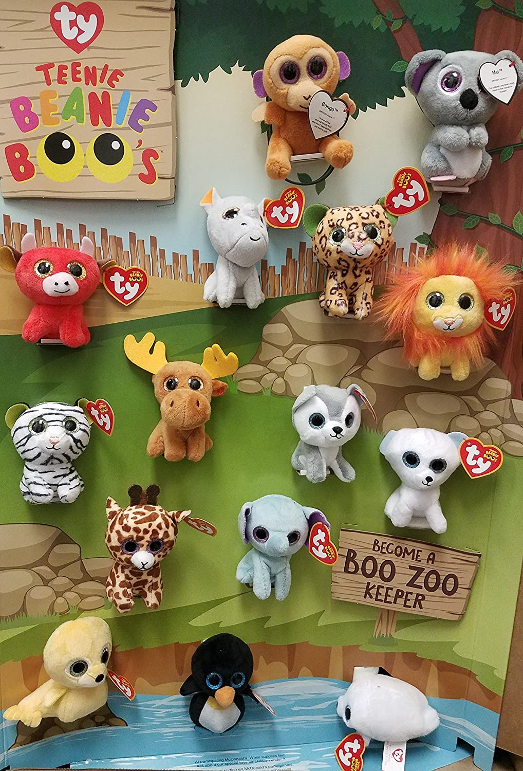 a48fd81eee3 Amazon.com  Mcdonalds 2017 TEENIE BEANIE BOOS - COMPLETE SET OF 15  Toys    Games