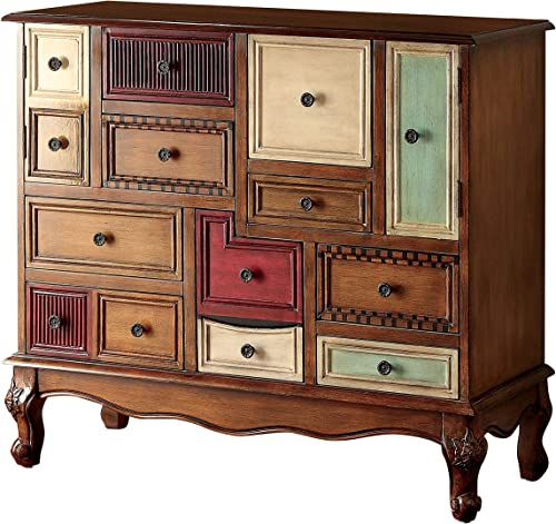 Furniture of America Zeppo Storage Chest, Antique Walnut
