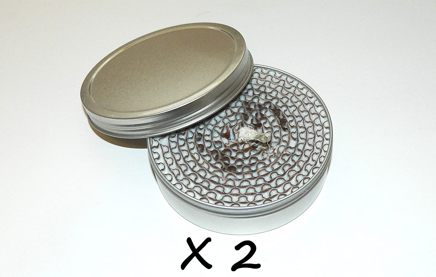 2-Hr. Burn-Time Outdoor Survival Fire Starter Screw-Top Lid Buddy Burner Camping Bug Out Stove (2-Pack)