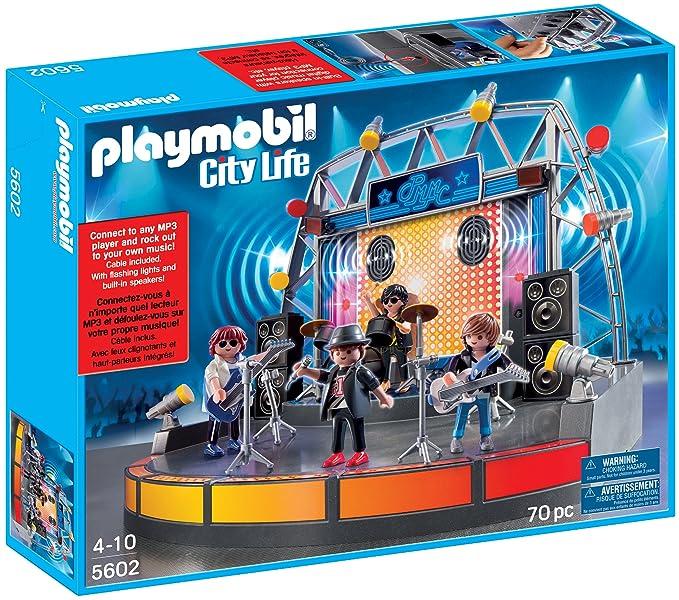 PLAYMOBIL Popstars! 5602 Escenario con USB y MP3: Amazon.es ...