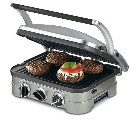 5. Cuisinart GR-4N 5-in-1 Griddler, Silver, Black Dials