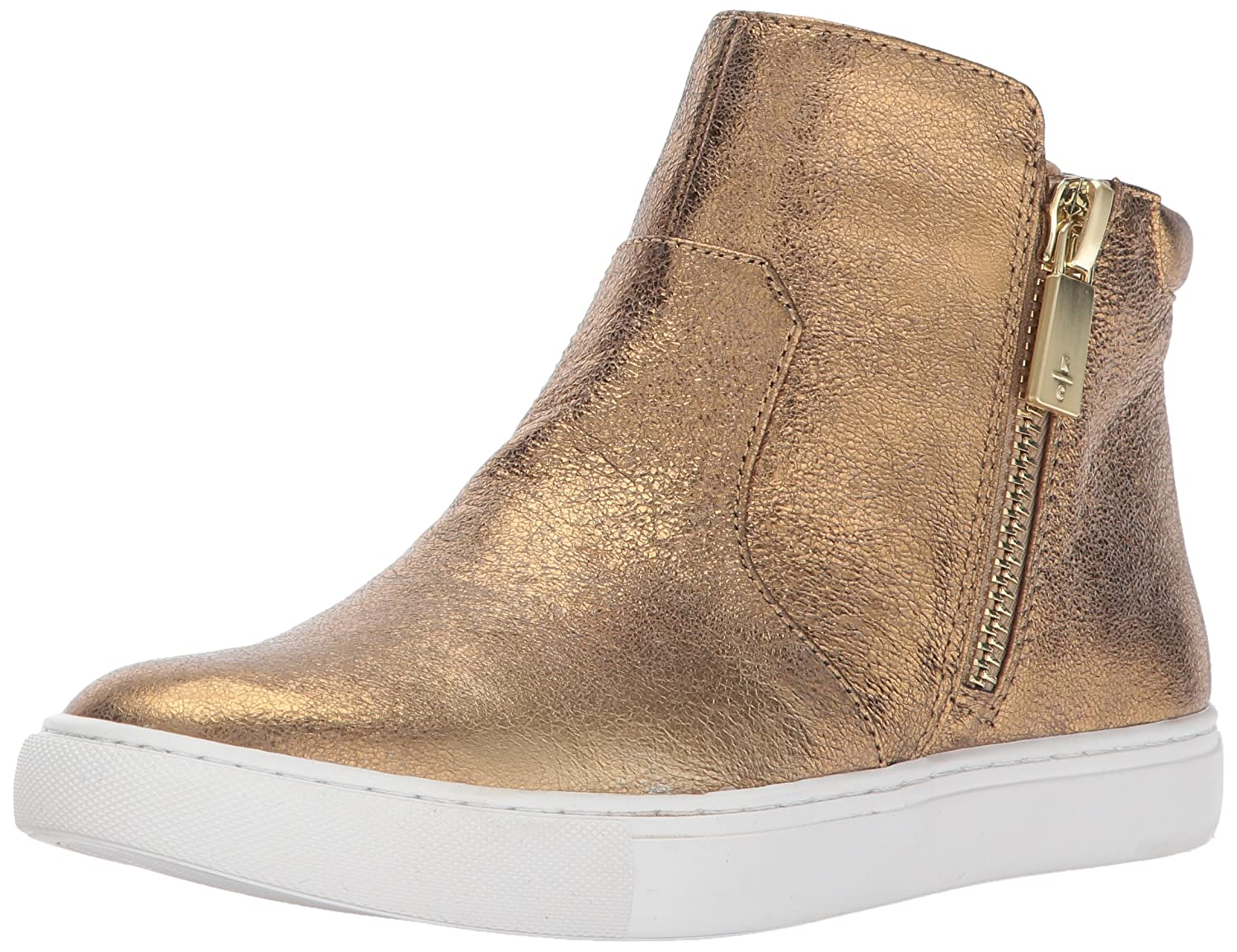 Kenneth Cole New York Women's Kiera High Top Leather Fashion Sneaker B01MR98RIP 9 B(M) US|Gold
