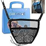 Car Cache Purse Holder for Car - Net Pocket Organizer for Handbag Storage Between Seats - Dog Barrier - Car Accessories for W