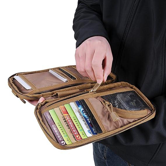 Cooyoo d-serv Servicio diario Woodland camuflaje bolsa de mano bolso cartera bolsa salud herramienta Case titular de la tarjeta Diario bolsa de accesorios, ...