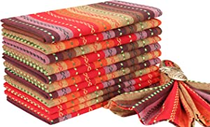 Salsa Cloth Napkin In Multi Stripe Fabric-18x18