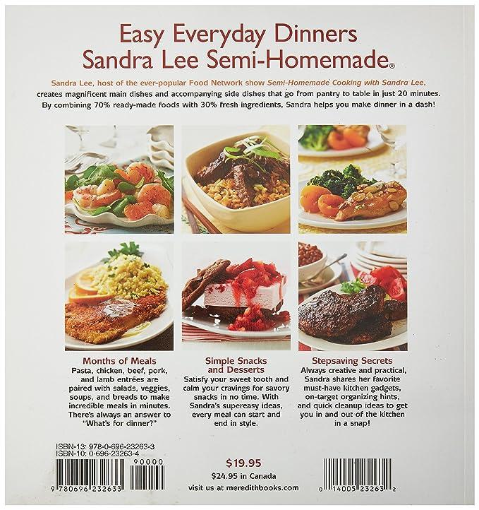 Amazon Com Sandra Lee Semi Homemade 20 Minute Meals