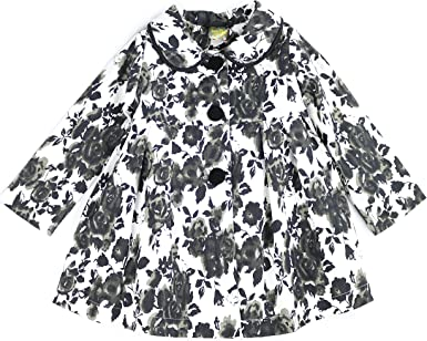 Maria Elena Rose Print Hooded Jacket with Fleece Lining 2-7//8 Toddlers and Girls