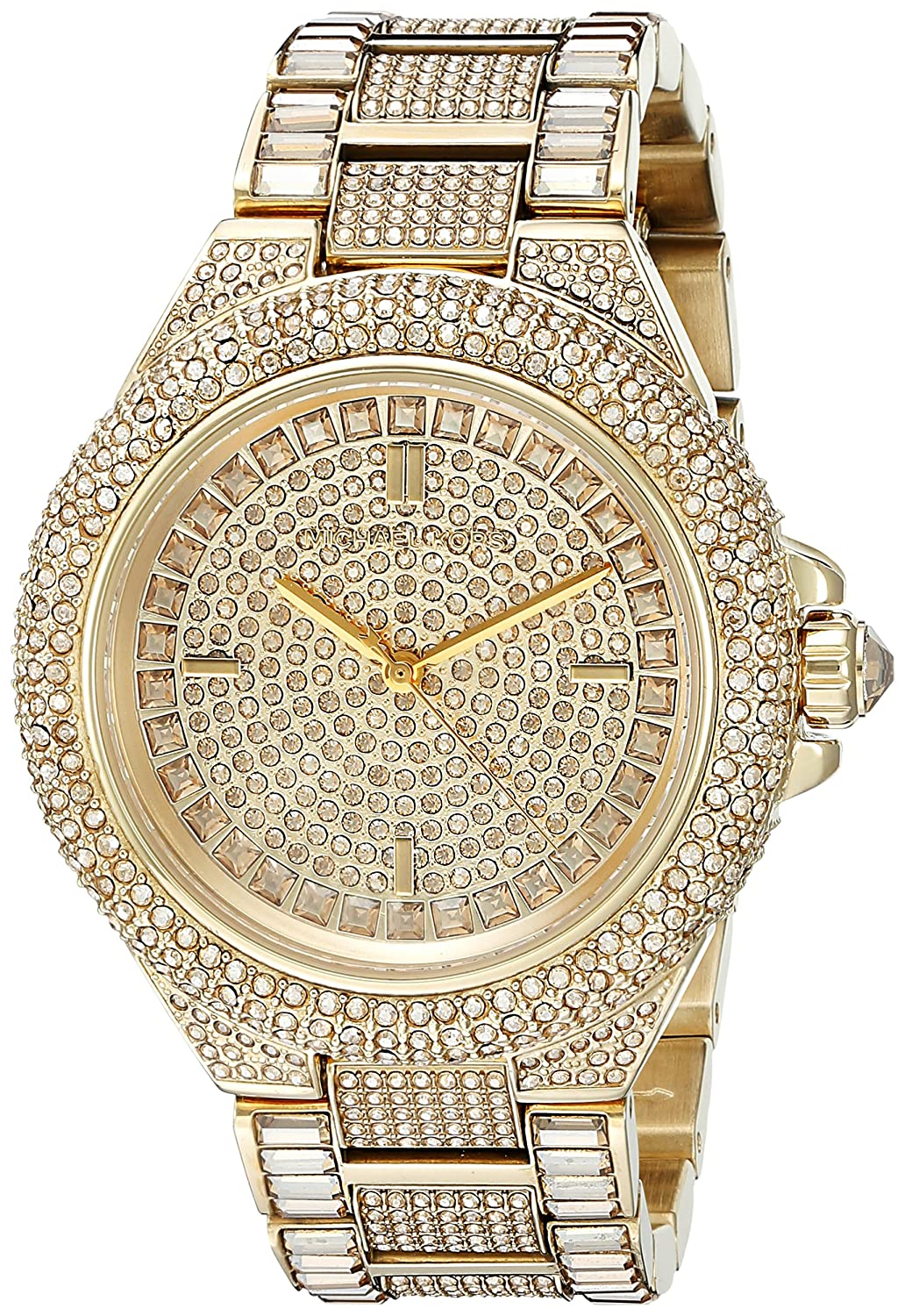 michael kors women 9 mm gold coloured gold plated stainless steel michael kors women 9 mm gold coloured gold plated stainless steel bracelet watch mk5720 michael kors amazon co uk watches