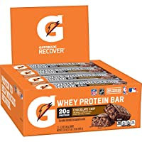 Deals on 12-Ct Gatorade Whey Protein Recover Bars, Chocolate Chip 2.8-Oz