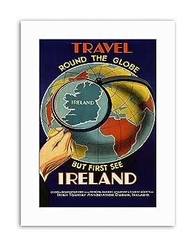 Ireland globe map looking glass world island travel canvas art ireland globe map looking glass world island travel canvas art prints publicscrutiny Image collections