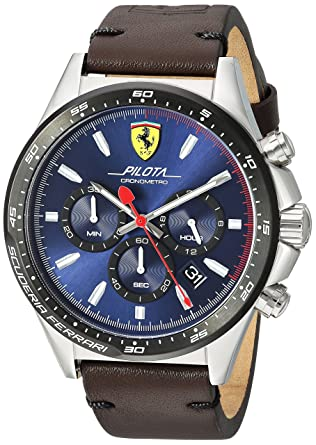 7f80b3751 Ferrari Casual Watch for Men - Leather Band, 830435: Amazon.ae