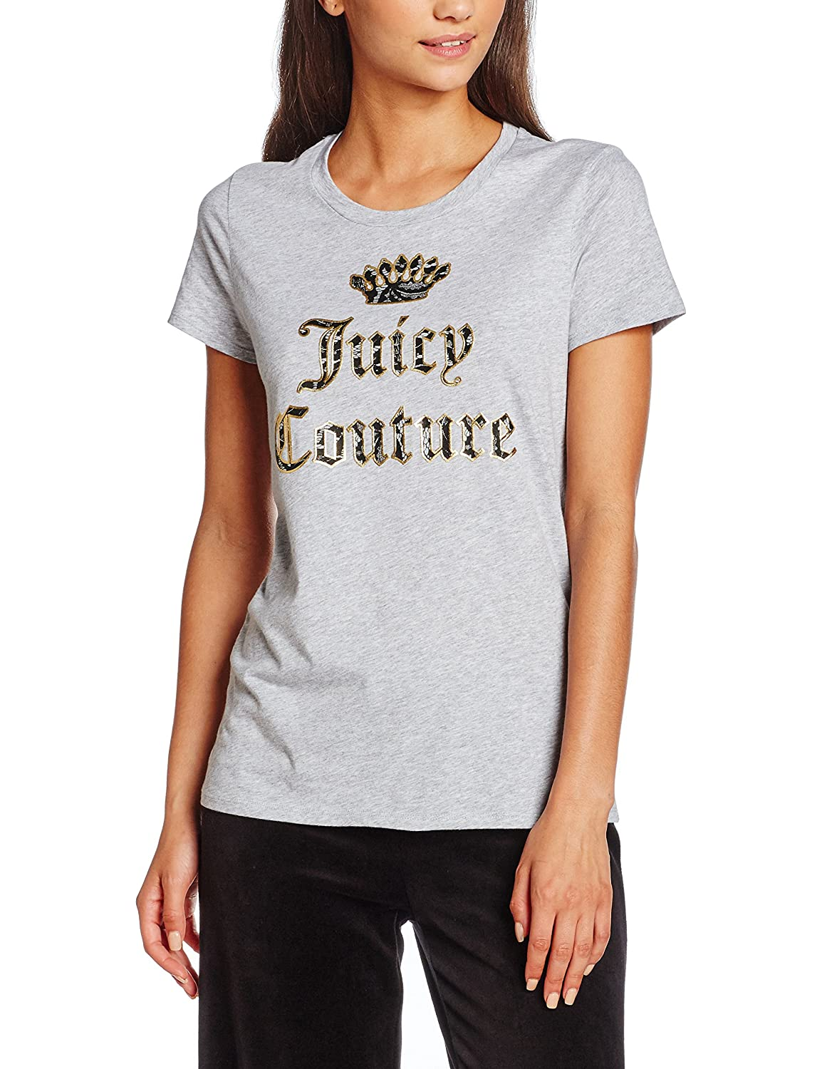 Juicy Couture Damen T-Shirt Knt Lace Graphic Tee