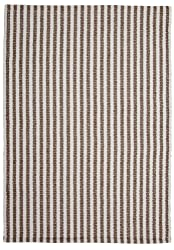 Chester Taupe/White Stripe Hand-Woven Eco Cotton Washable Rug- 5'x8'