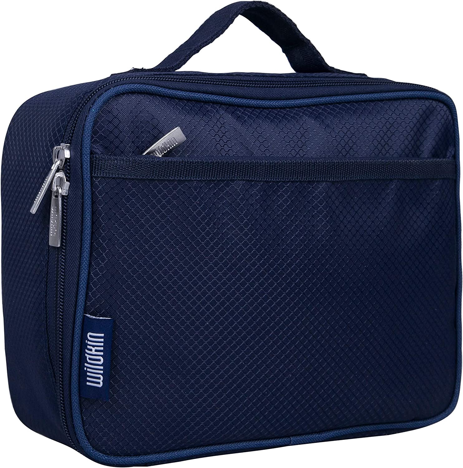 Wildkin Large Insulated Lunch Box for Men and Women, Ideal Size for Packing Hot or Cold Snacks for Work and Travel, Measures 9.75 x 7 x 3.25 Inches, Mom's Choice Award Winner, BPA-free (Rip-Stop Blue)