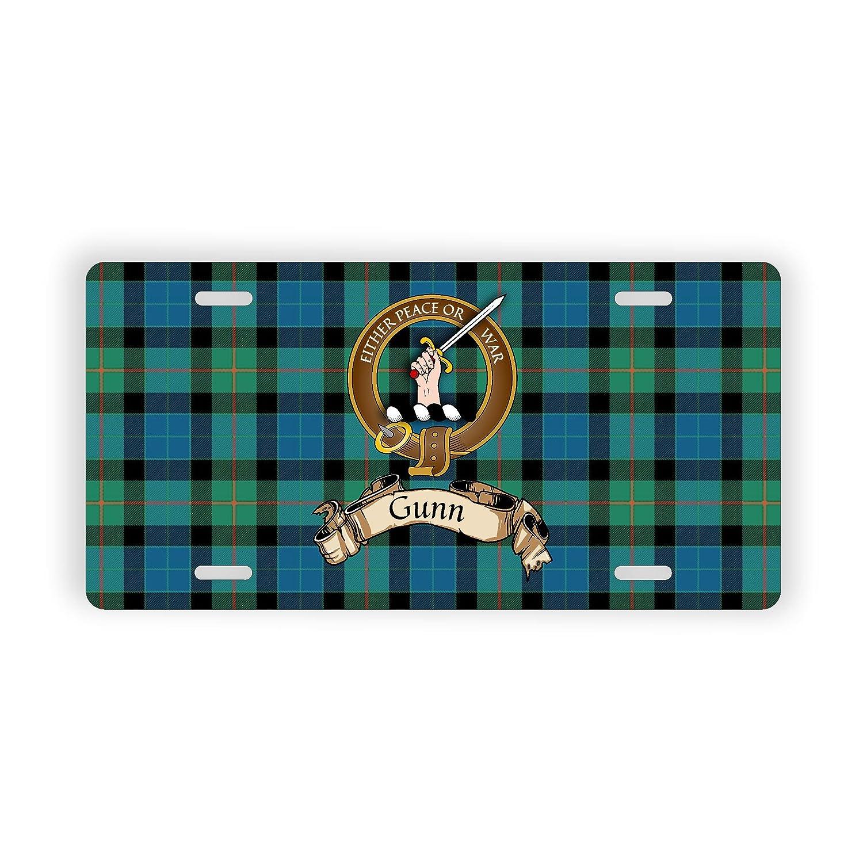 Gunn Scotland Clan Tartan Novelty Auto Plate