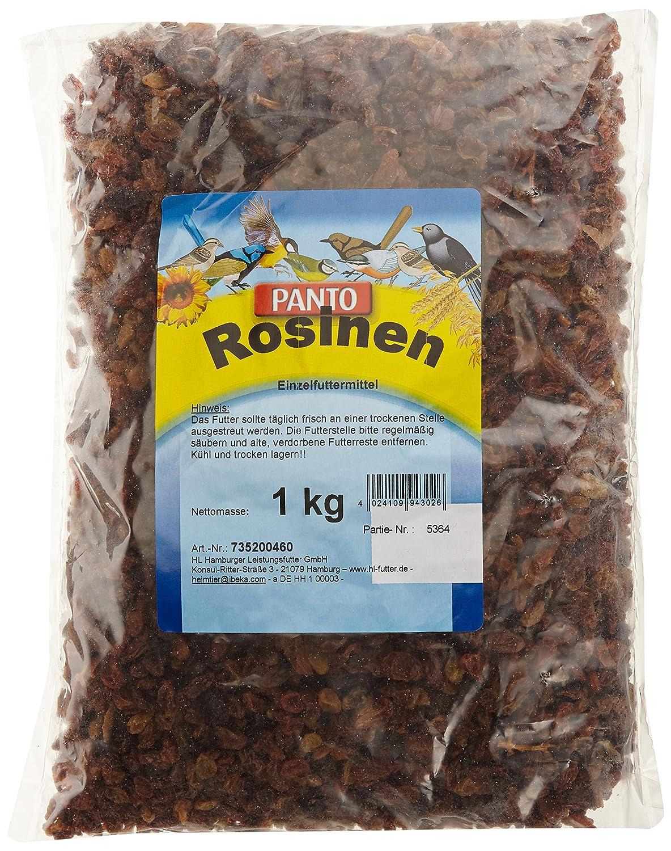 Panto Rosinen für Wildvögel 1kg, 2er Pack (2 x 1 kg) 735200460 Fettfutter Meisenfutter Meisenknödel