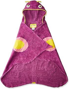 Kidorable Chicas púrpura de la mariposa totalmente de algodón con capucha Toalla púrpura S: Amazon.es: Hogar