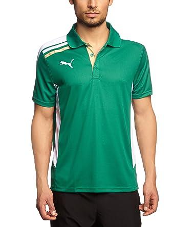 Puma - Camiseta de fútbol sala infantil, tamaño 164, color verde/blanco