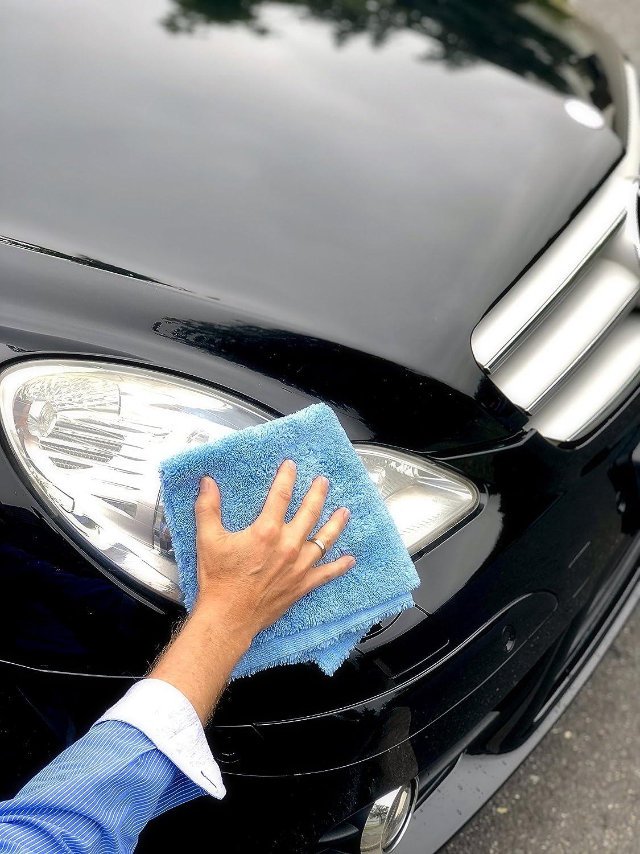 Alclear Poliertücher 2 Seiten Allrounder Für Auto Motorrad Poliermaschine Detailing Mikrofaser Poliertuch Set 20er Set Saugstark 40x40 Cm Blau Auto