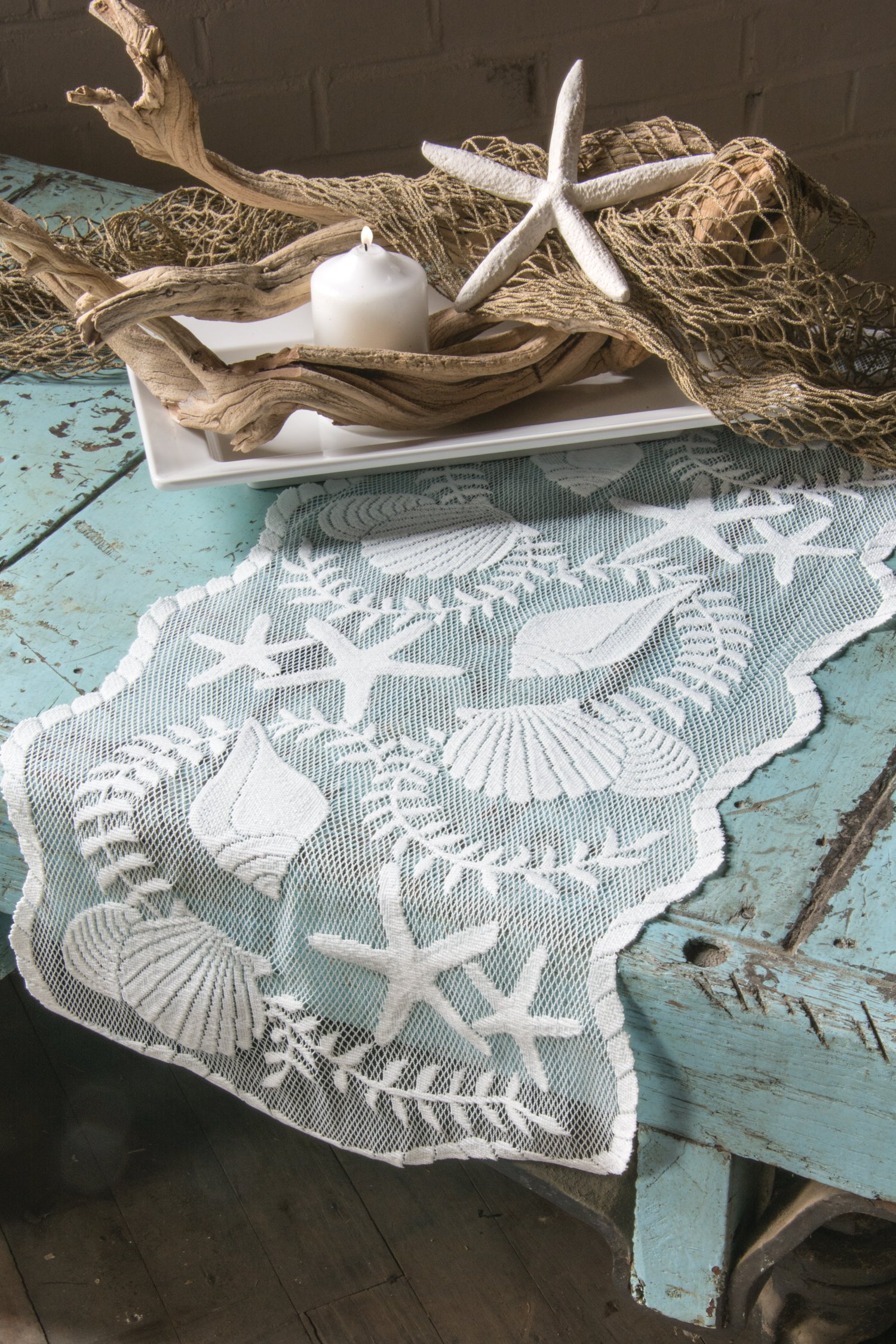 Heritage Lace Tidepool Table Runner, 14 by 40-Inch, White by Heritage Lace (Image #2)