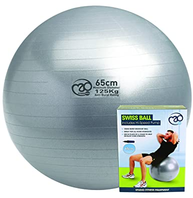 Pilates-Mad FBALL100 Yoga Ejercicio Swiss Fitness Ball 3127d1ebcaaf