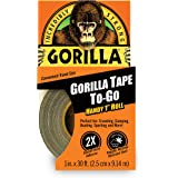 "Gorilla 6100101 Duct Tape To-Go, 1"" x 30 ft, Black"