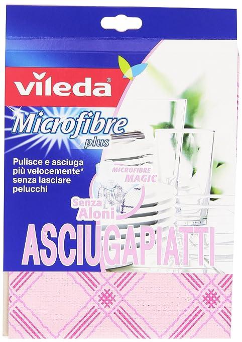 24 opinioni per Vileda- Microfibre Plus Asciugapiatti 55x40 cm- 2 panni