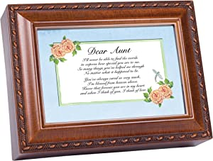 Cottage Garden Dear Aunt Woodgrain Traditional Music Box Plays You Light Up My Life