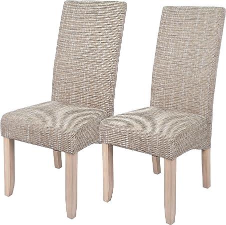Abitti Pack 2 sillas para Comedor o Salon tapizadas en Color Arena ...