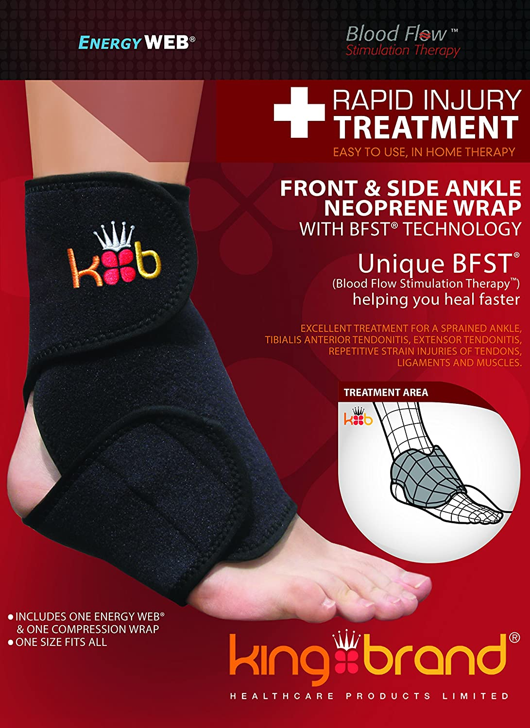 amazon com bfst ankle wrap rapid injury treatment for peroneal